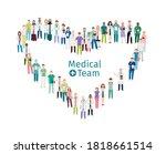 medical team workers. medical... | Shutterstock .eps vector #1818661514