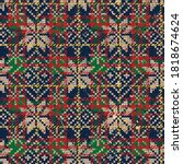 scottish tartan plaid wallpaper ... | Shutterstock .eps vector #1818674624