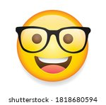 high quality emoticon on white...   Shutterstock .eps vector #1818680594