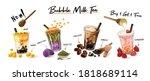 bubble milk tea special... | Shutterstock .eps vector #1818689114