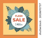 flash sales  square vector... | Shutterstock .eps vector #1818693737
