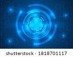 hi tech blue digital lines... | Shutterstock .eps vector #1818701117