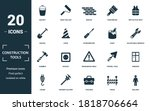 construction tools icon set....