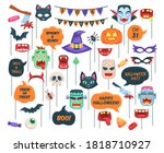 halloween props. photo booth... | Shutterstock .eps vector #1818710927