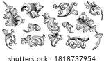 vintage baroque victorian frame ... | Shutterstock .eps vector #1818737954
