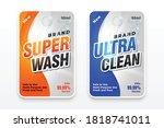 super wash detergent label for... | Shutterstock .eps vector #1818741011