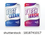 best clean and fresh wash... | Shutterstock .eps vector #1818741017