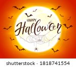 cute skeleton stands behind the ... | Shutterstock .eps vector #1818741554