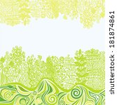 floral nature pattern... | Shutterstock .eps vector #181874861