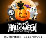 halloween vector background... | Shutterstock .eps vector #1818759071