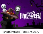 halloween background vector... | Shutterstock .eps vector #1818759077