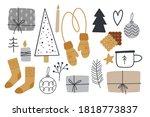 christmas clipart set. cozy... | Shutterstock .eps vector #1818773837