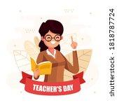 teacher's day. woman and men... | Shutterstock .eps vector #1818787724