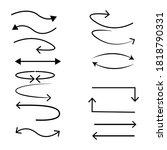 Big Set Line Arrows Icon...