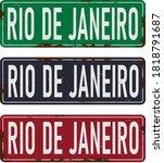Rio De Janeiro Touristic Retro...