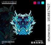 cool abstract monster...   Shutterstock .eps vector #1818817427