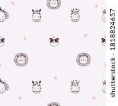 Seamless Patterns. Cute...