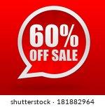 sixty percent off sale | Shutterstock . vector #181882964