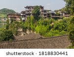 Houses On Cliffs In Furong Zhe...