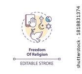 freedom of religion concept... | Shutterstock .eps vector #1818831374