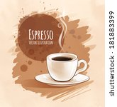 vector illustration of espresso ... | Shutterstock .eps vector #181883399