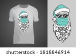 lettering merry christmas with... | Shutterstock .eps vector #1818846914