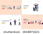 conflict mediation and business ...   Shutterstock .eps vector #1818872621