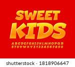 vector happy banner sweet kids. ... | Shutterstock .eps vector #1818906647