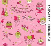 birthday seamless background  ... | Shutterstock .eps vector #181892921