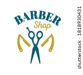 barber shop logo illustration.... | Shutterstock .eps vector #1818930431
