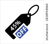 45 percent offer. discount... | Shutterstock .eps vector #1818943064