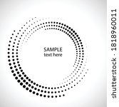 halftone dots in circle form.... | Shutterstock .eps vector #1818960011