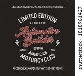 motorcyle theme. badge for t...   Shutterstock .eps vector #1818961427