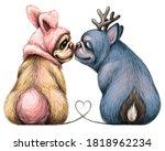 bulldogs. wall sticker. graphic ...   Shutterstock .eps vector #1818962234
