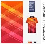 fabric pattern design. orange... | Shutterstock .eps vector #1818978644