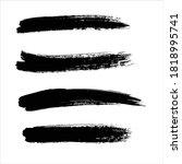 art black ink abstract brush... | Shutterstock .eps vector #1818995741