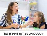 Children Speech Therapy Concept....