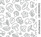 seamless pattern with mushrooms.... | Shutterstock .eps vector #1819003901