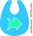 bib icon. flat color design....