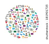 soccer circle icons set.... | Shutterstock .eps vector #181901735