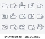 folder icons | Shutterstock .eps vector #181902587
