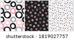 cute abstract geometric... | Shutterstock .eps vector #1819027757