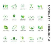 abstract icons set   isolated... | Shutterstock .eps vector #181906001
