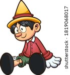 cartoon pinocchio marionette... | Shutterstock .eps vector #1819068017