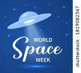 world space week calligraphy... | Shutterstock .eps vector #1819082567