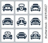 Vector Old Cars Icons Set ...