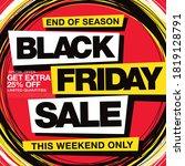 black friday sale banner layout ... | Shutterstock .eps vector #1819128791