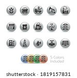 energy icons    metal round... | Shutterstock .eps vector #1819157831