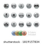 furniture icons    metal round... | Shutterstock .eps vector #1819157834