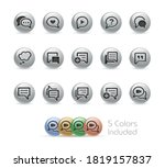 bubble icons    metal round... | Shutterstock .eps vector #1819157837